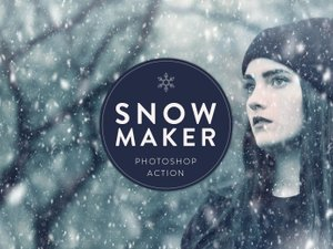 Snow Maker Photoshop Action 1
