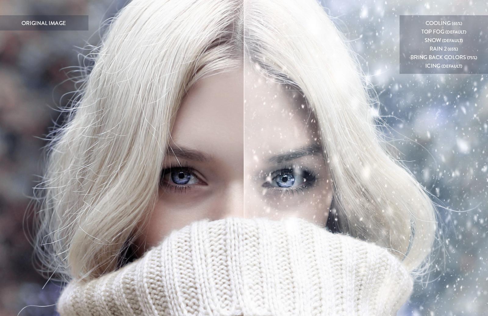 Snow Maker Photoshop Action 2