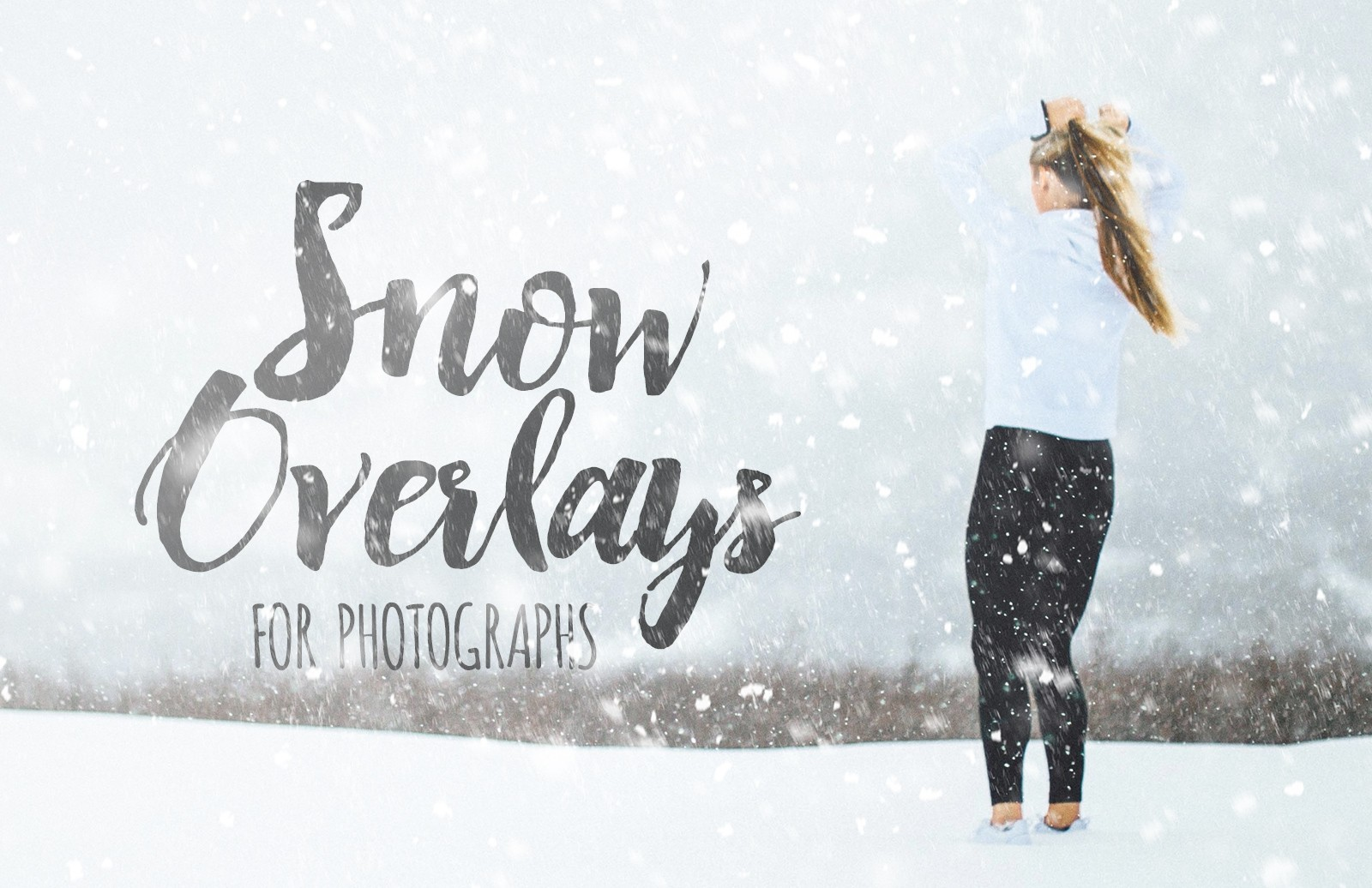 Snow Overlays for Photographs 1