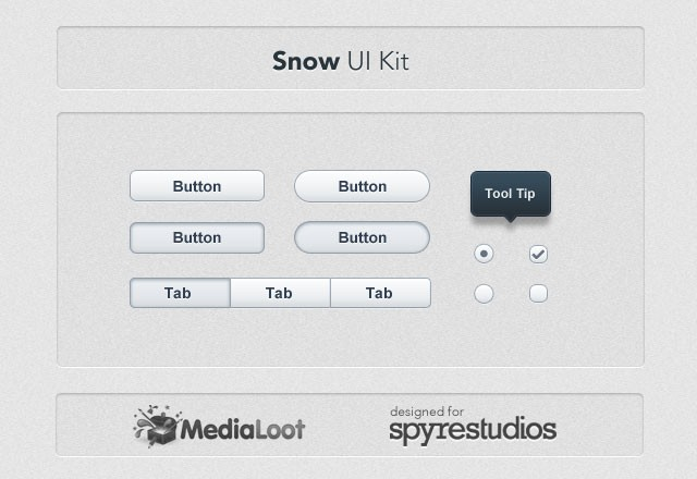 Large Snow  Ui  Kit