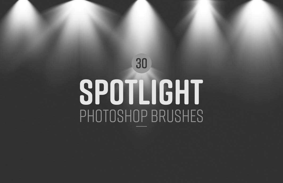 Spotlight Photoshop Brushes Preview 1