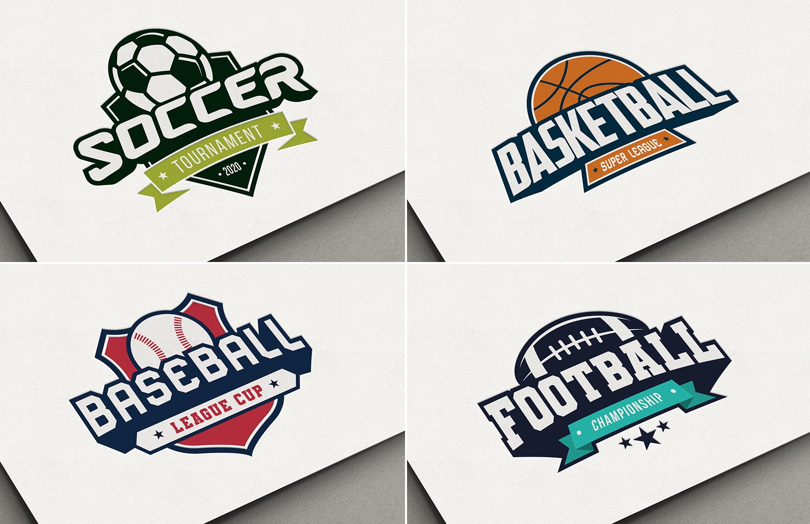 Sports Logo Template Pack Preview 1