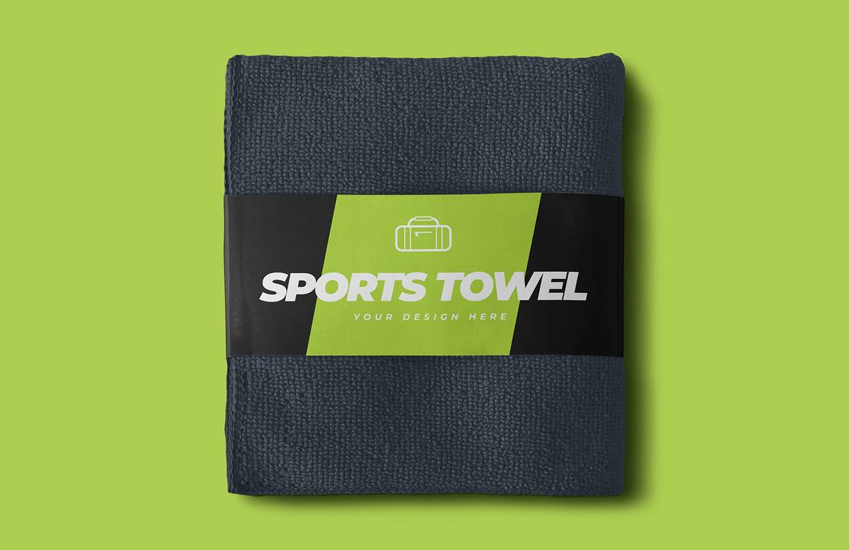 Sports Towel Mockup Preview 1
