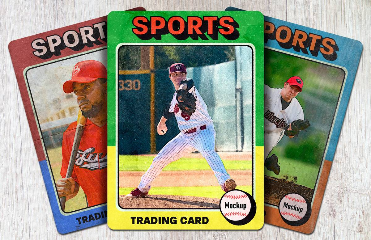 Sports Trading Card Mockup Preview 1