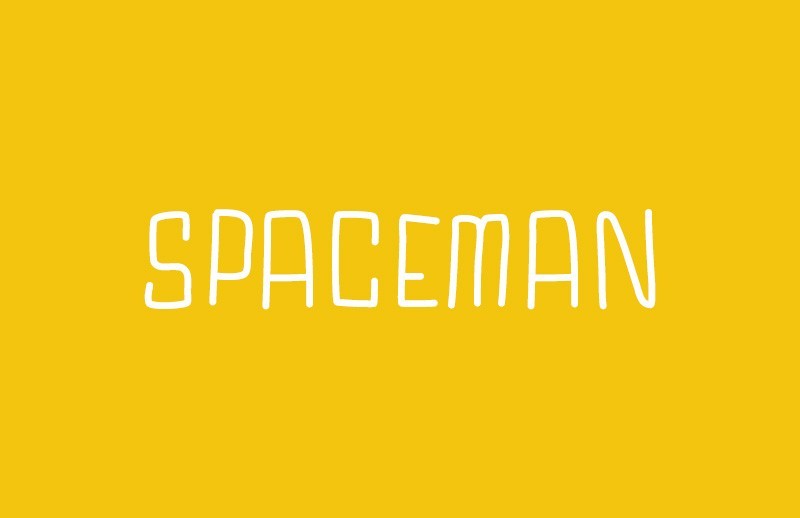 Spaceman  Hand  Drawn  Font  Preview 1