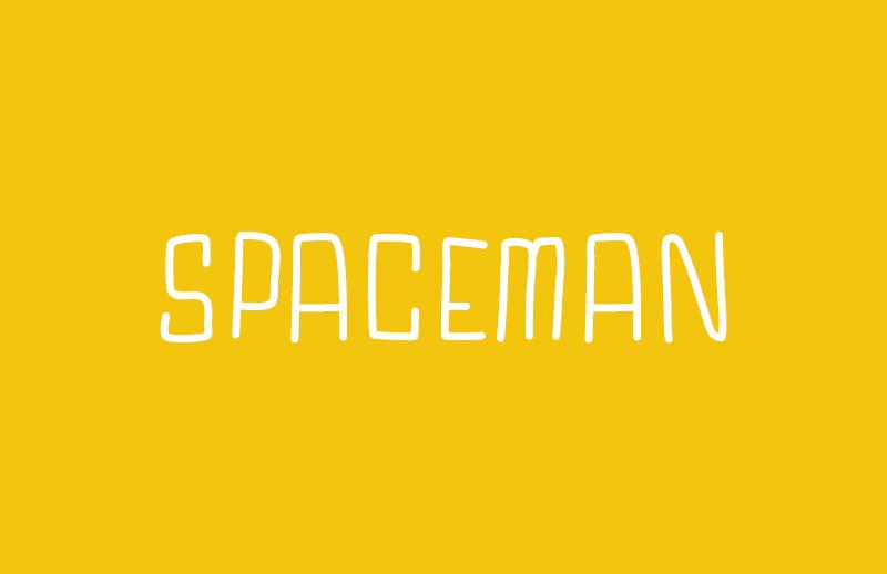 Spaceman - Hand Drawn Web Font