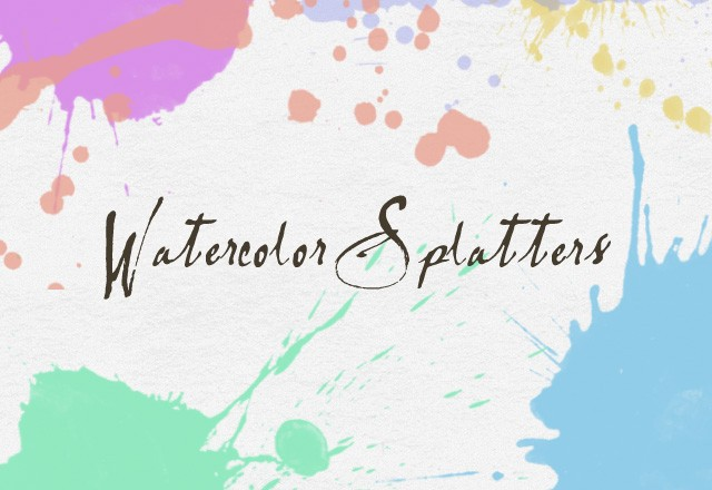 20 Watercolor Splatter Brushes