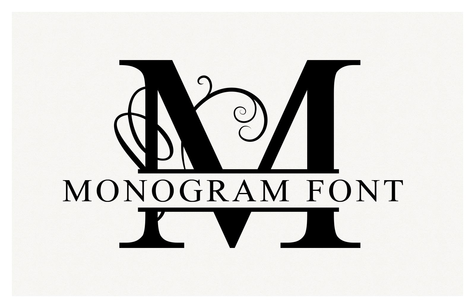 Split Monogram Font Vectors Preview 1