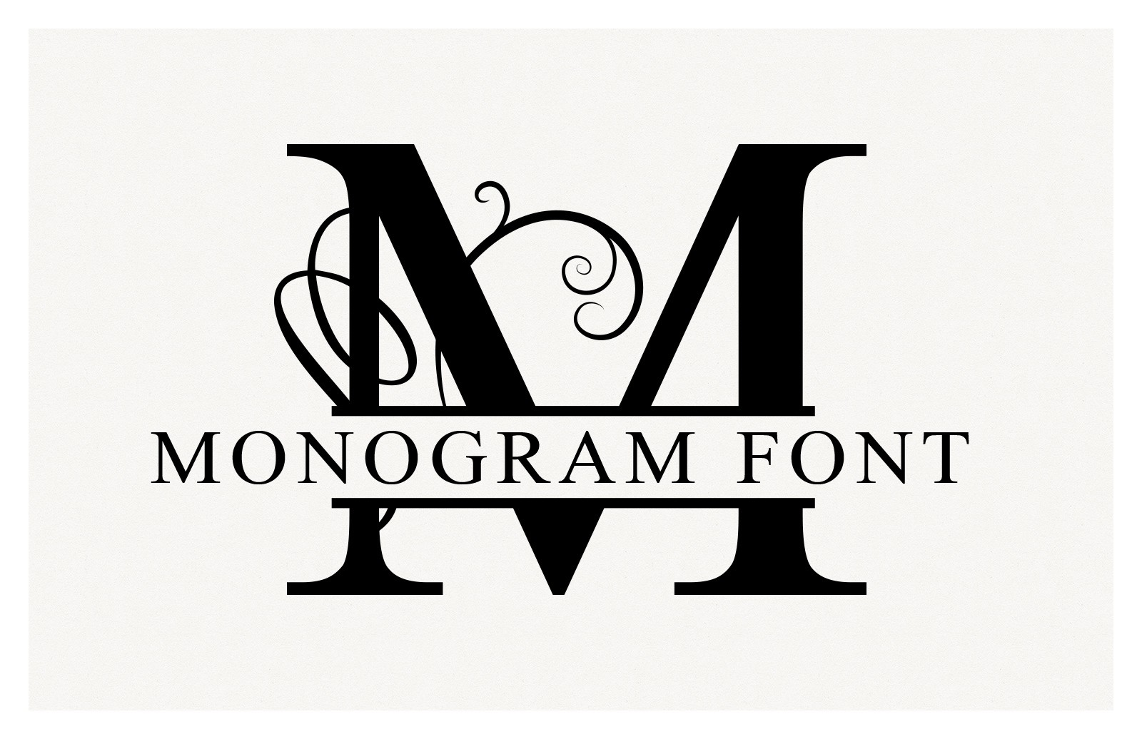 Split Monogram Font Vectors Preview 1