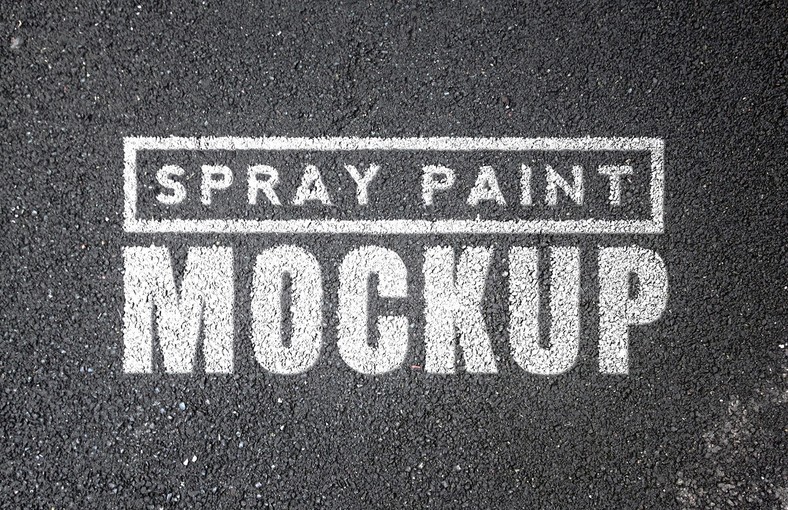 Spray Paint Mockups - Vol 1