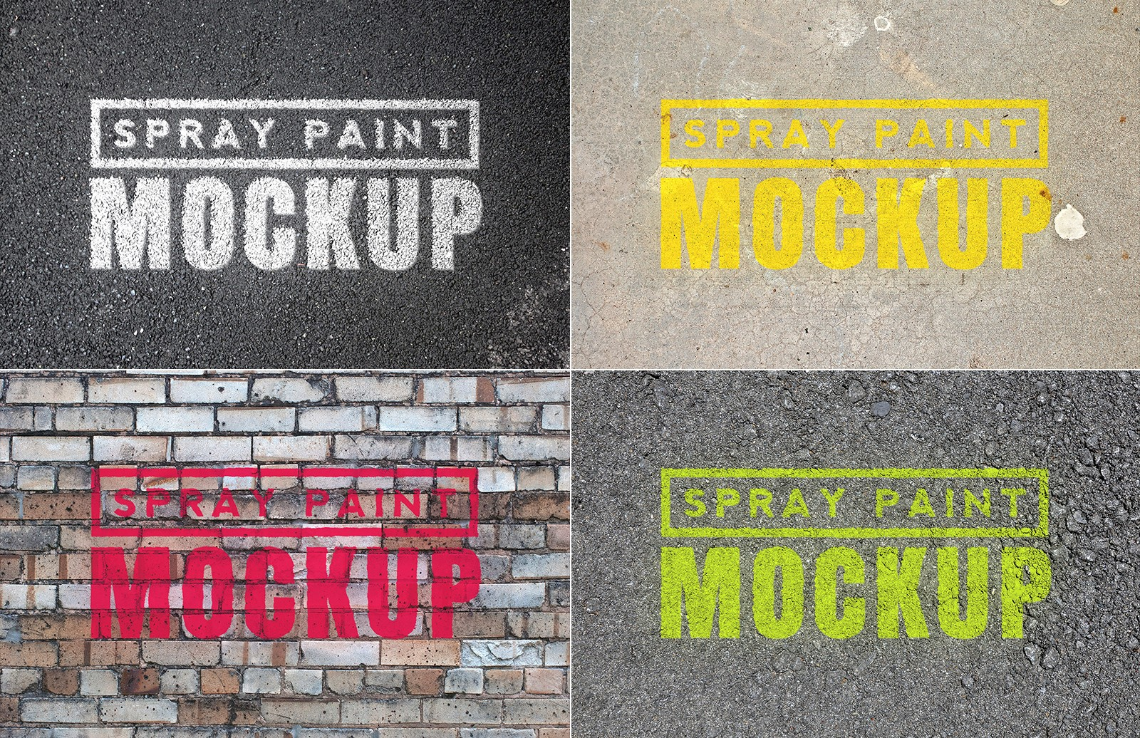 Spray Paint Mockups - Vol 1 2
