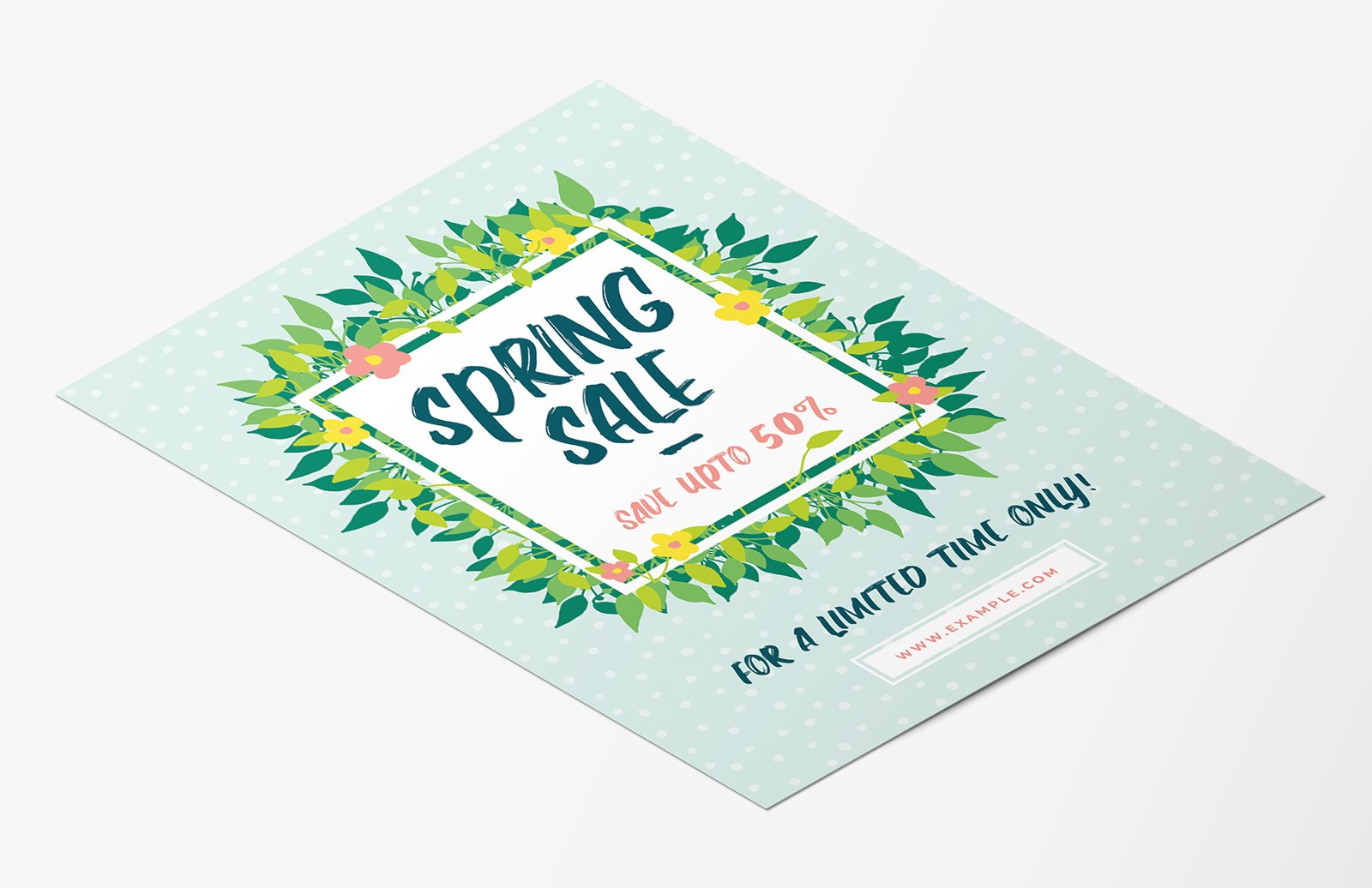 Free Spring Sale Flyer Template