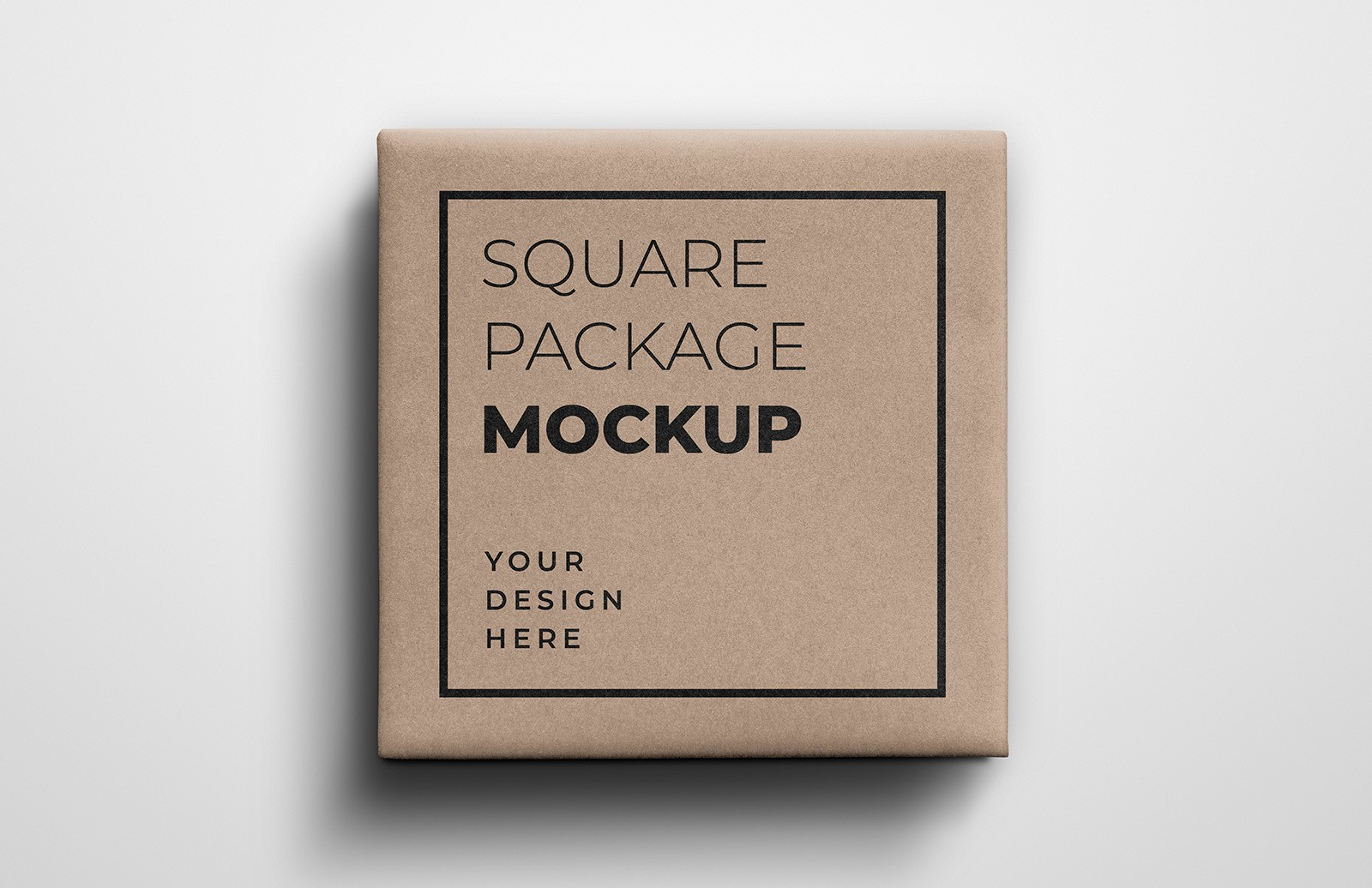 Square Gift Package Mockup Preview 1