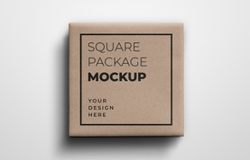 Square Gift Package Mockup