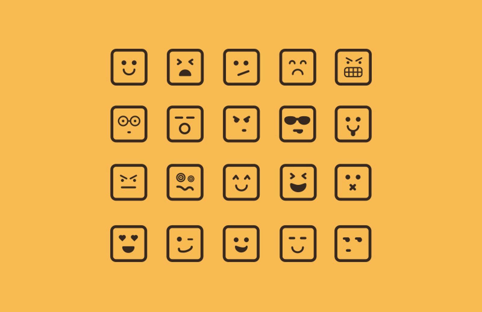 Square  Emoticons  Preview 1