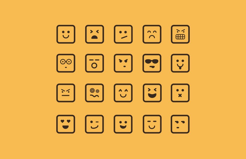 Vector Square Emoticons