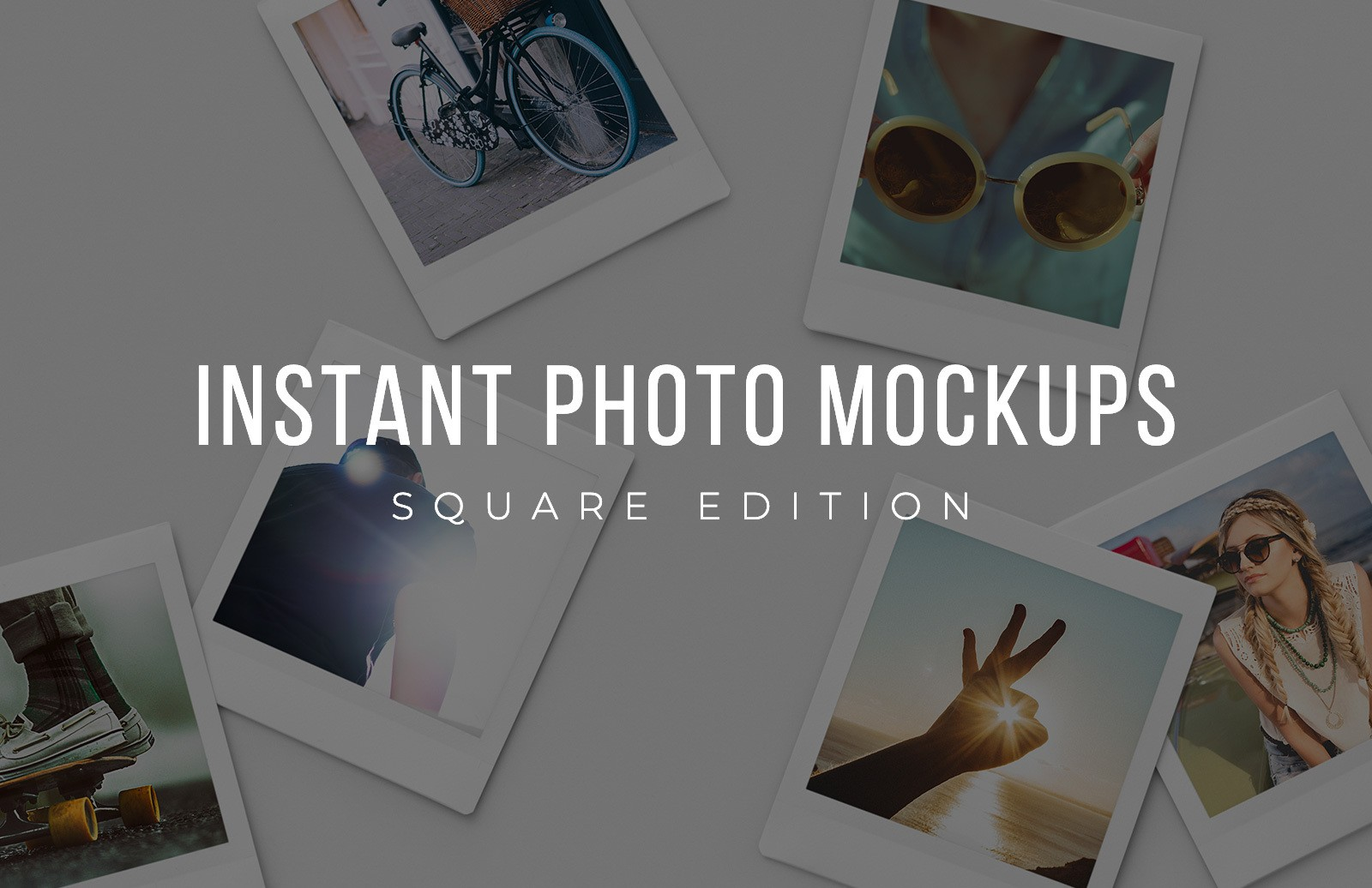 Square Instant Photo Mockups Preview 1