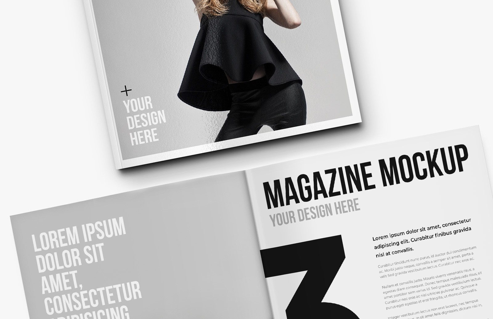 Square Magazine Mockup Preview 1