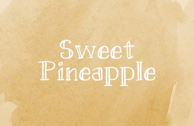 Sweet Pineapple - Hand-drawn Serif Webfont