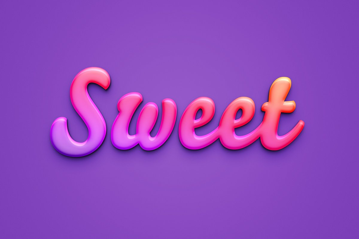 Sweet Text Effect For Photoshop Medialoot