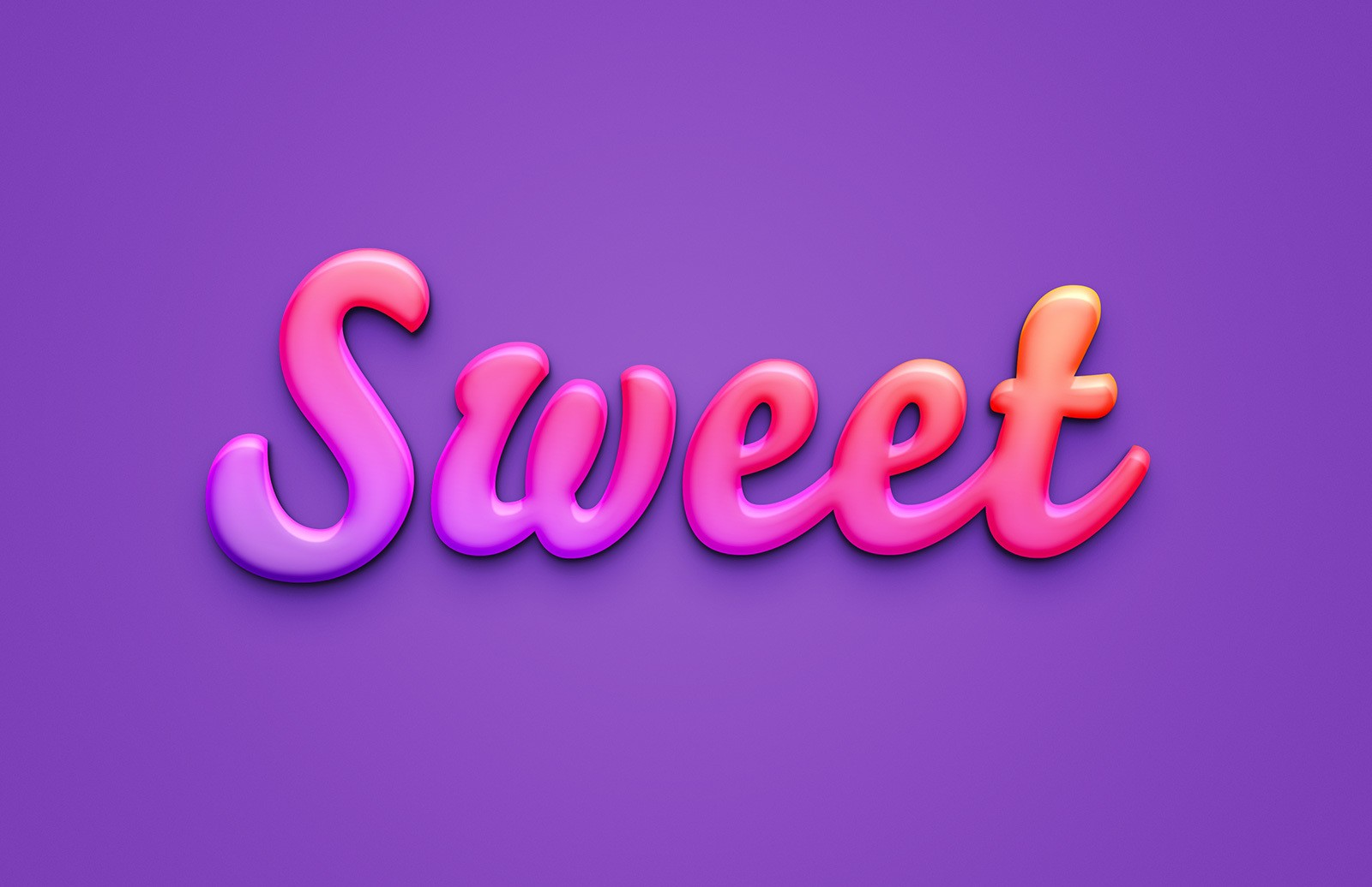 Sweet Text Effect For Photoshop Preview 1