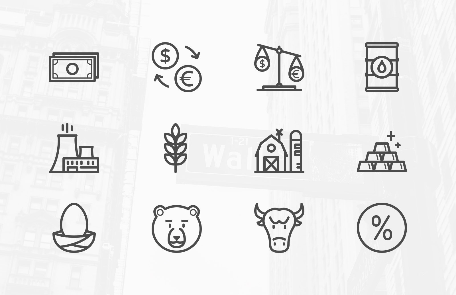 Stock Market & Commodity Icons
