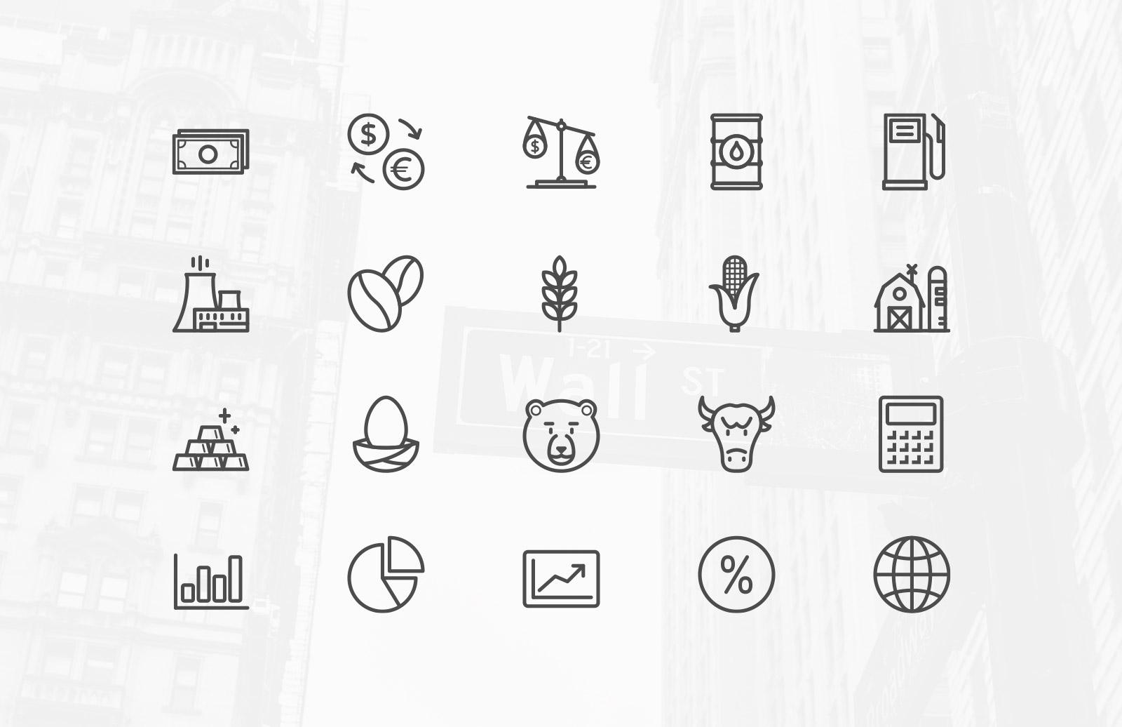 Stock Market & Commodity Icons 2