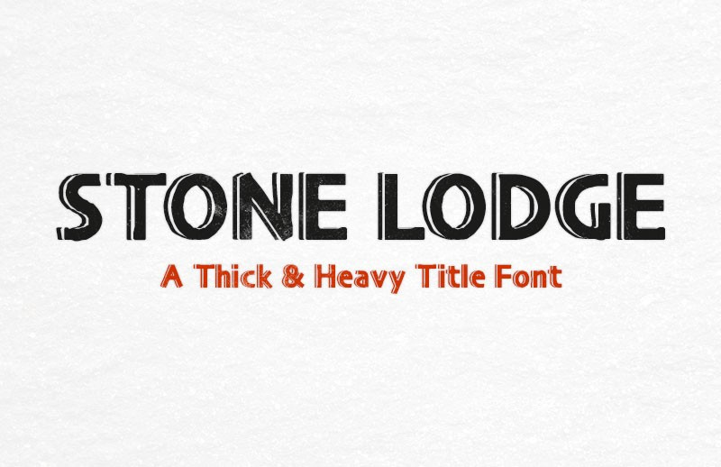 Stone Lodge - Heavy Title Font