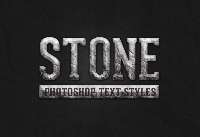 Stone Text Layer Styles