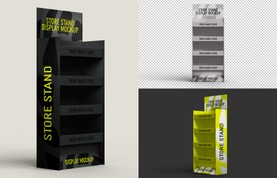 Store Stand Display Mockup