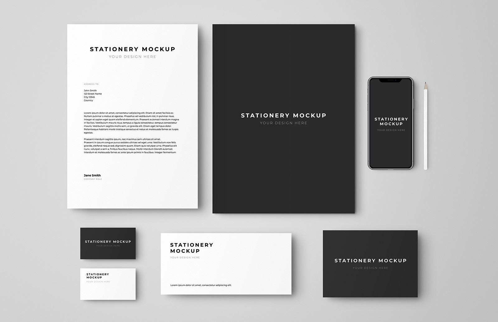 Stationery Set Mockup Preview 1