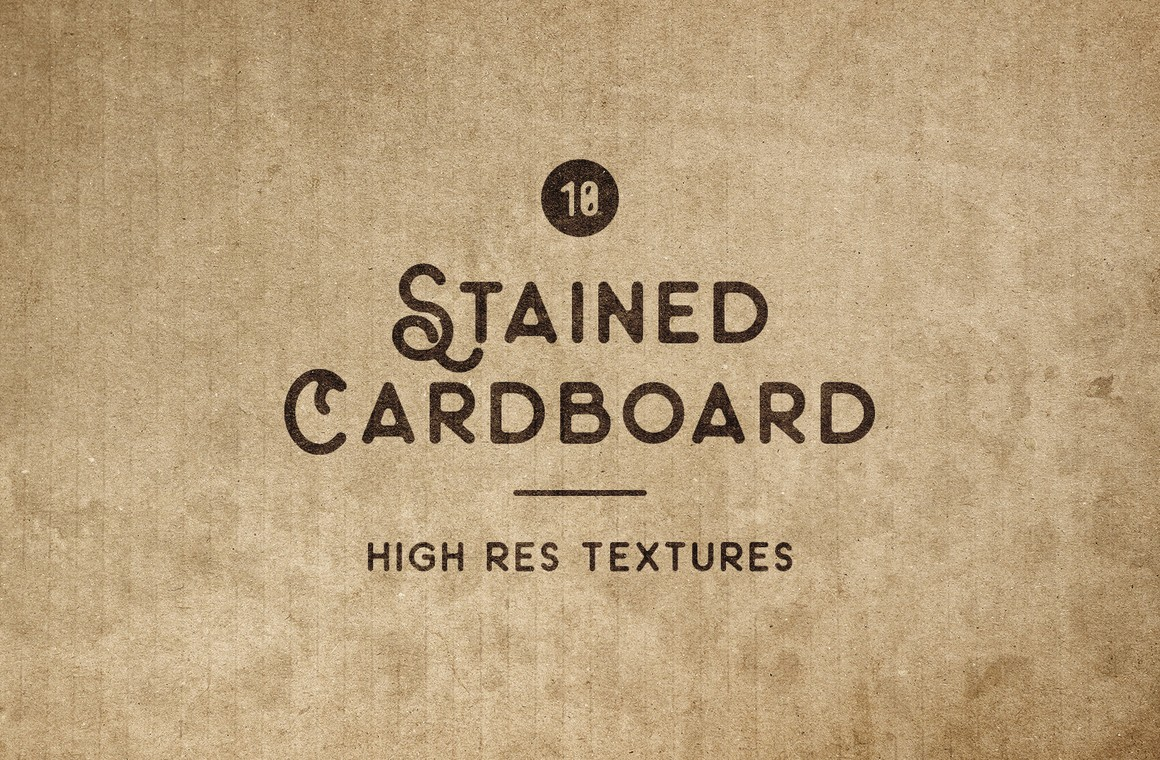 Stained Cardboard Textures