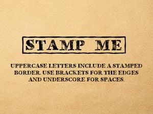 Stamped Desktop & Web Font 2