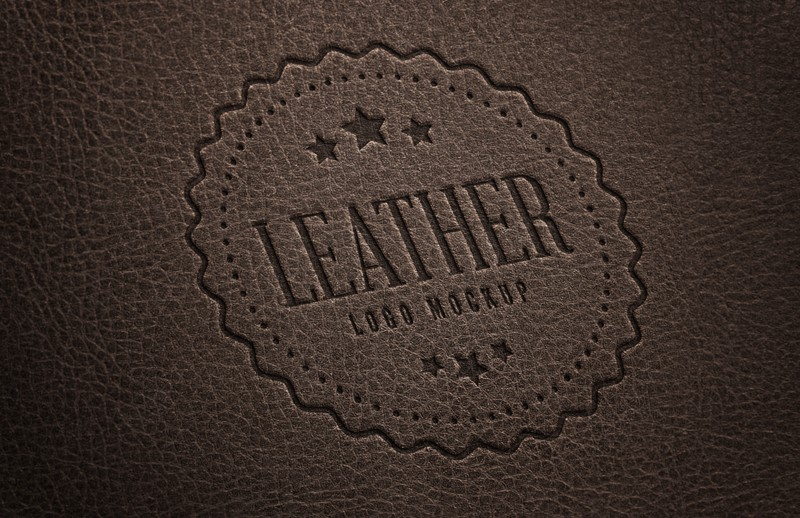 Stamped Leather Logo Mockup