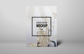 Standing Canvas Poster Mockup