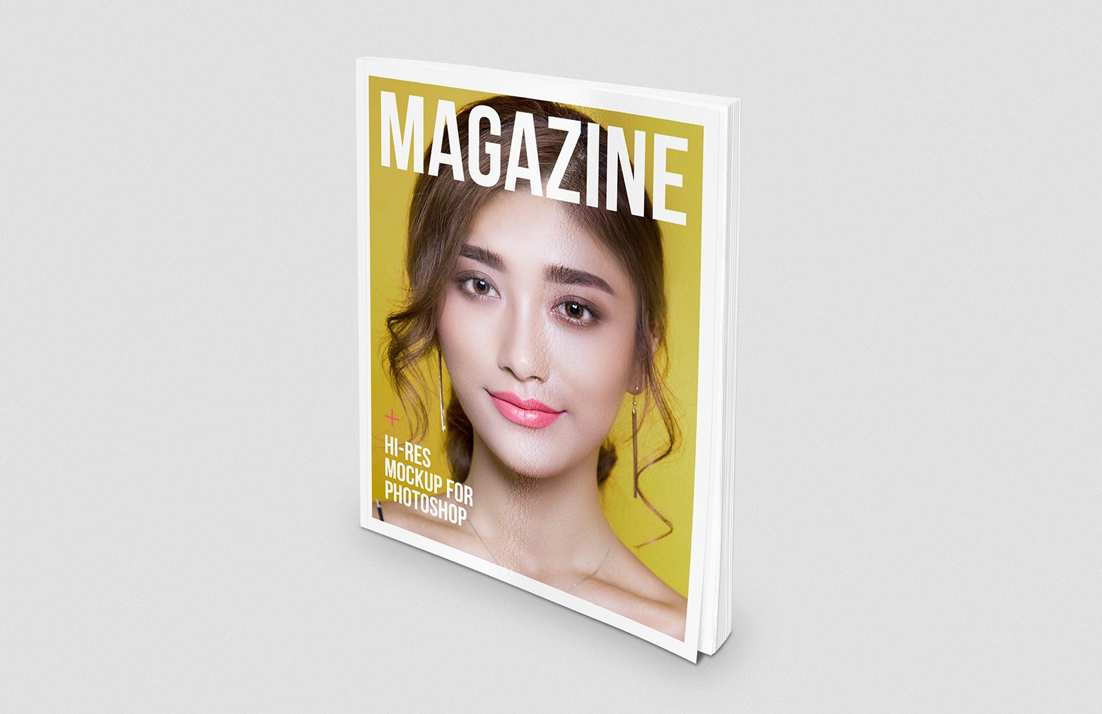 Standing Magazine Mockup