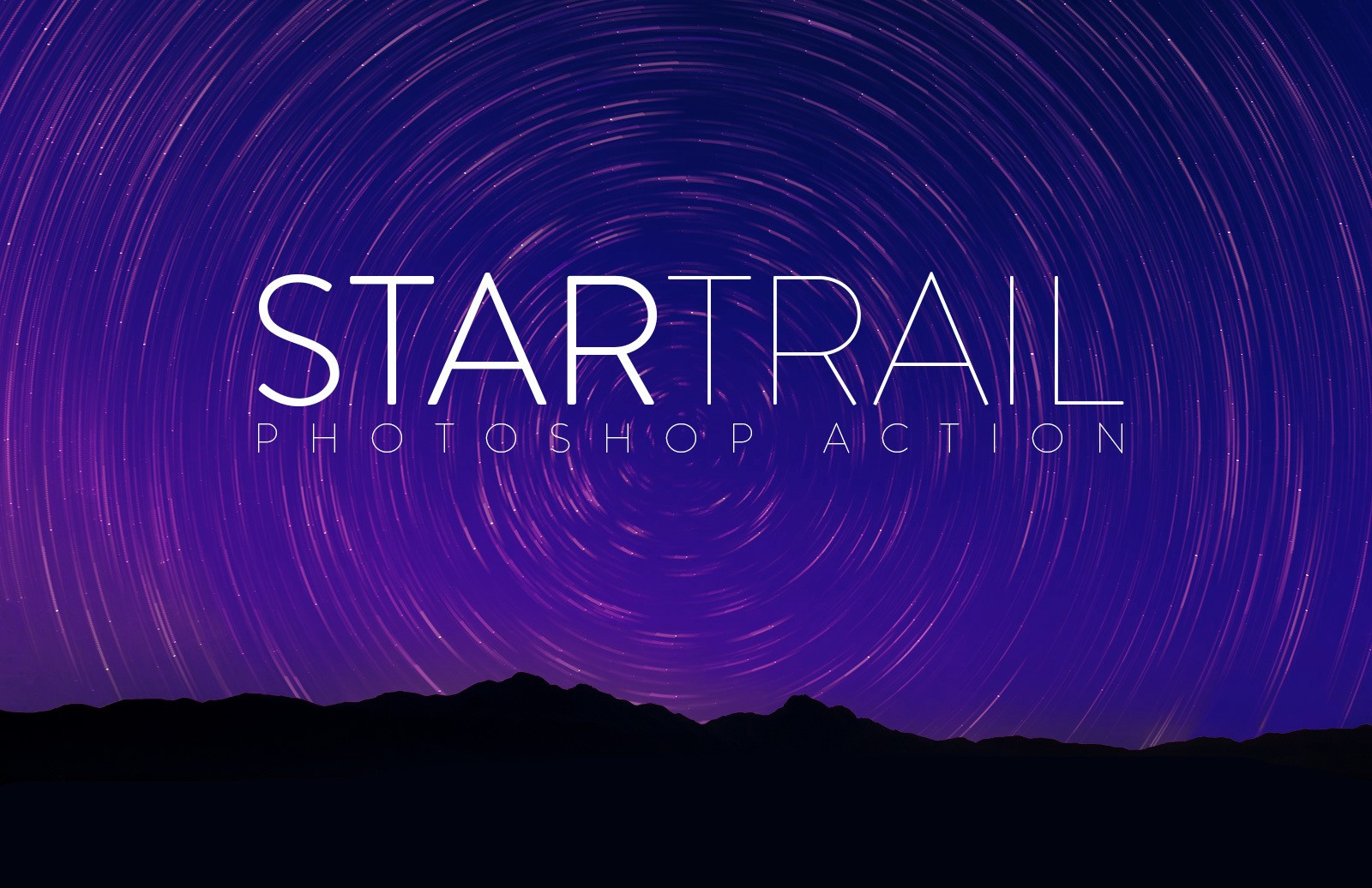 Star Trail Photoshop Action Preview 1