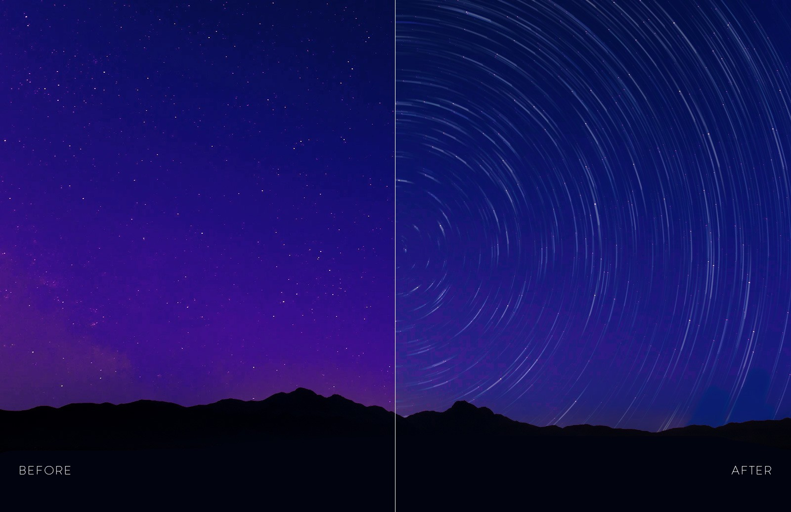 Star Trail Photoshop Action