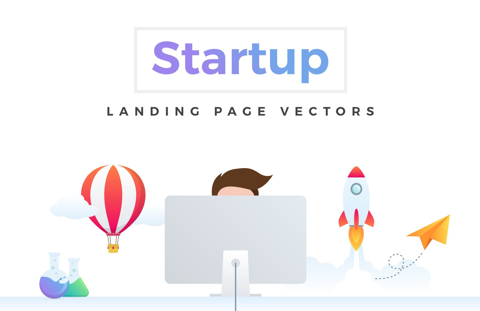 Startup Landing Page Vectors Preview 1