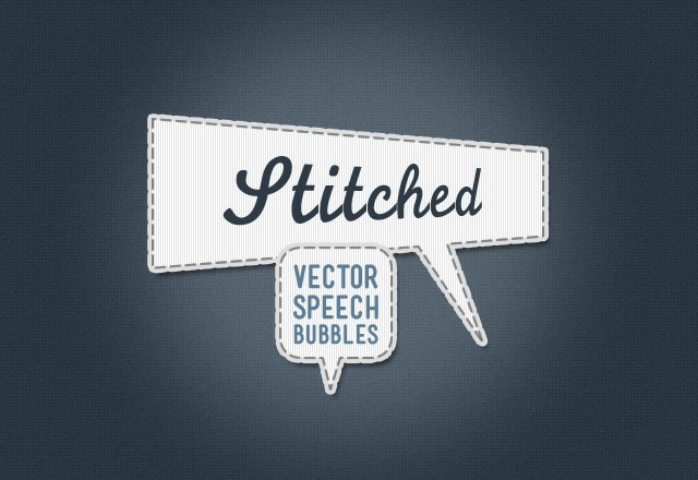 Stitched Vector Speech Bubbles