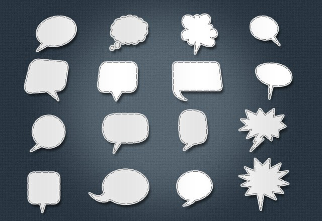 Large Stitched  Speech  Bubbles  Preview2