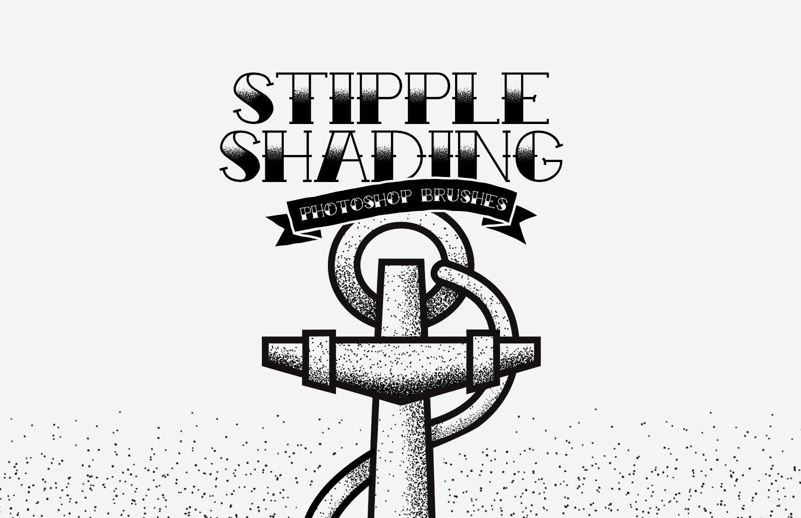 Stipple Shading Photoshop Brushes