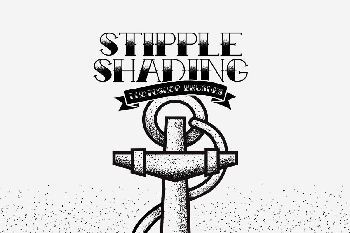 Stipple Shading Photoshop Brushes — Medialoot