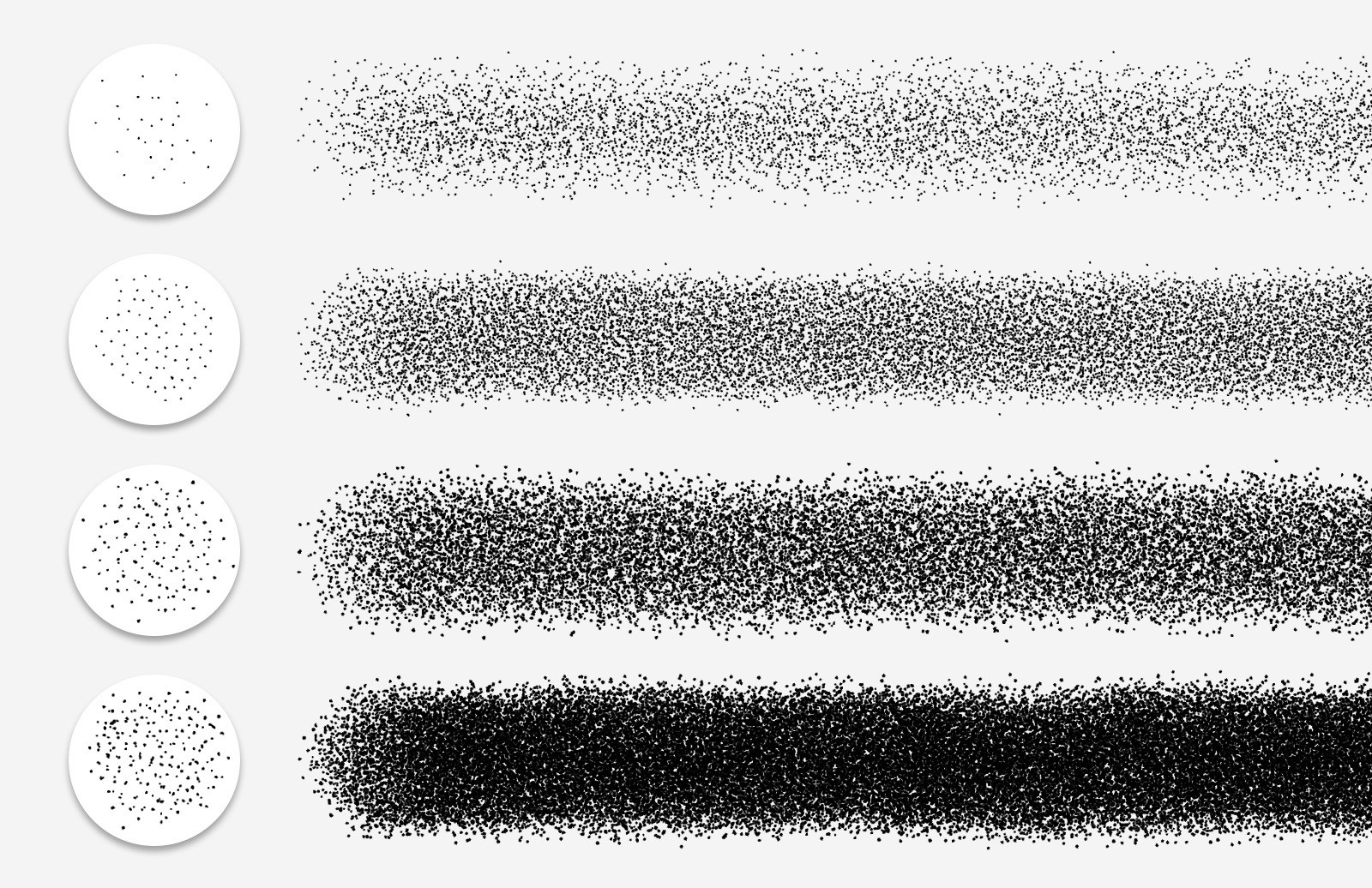 Stipple Shading Photoshop Brushes