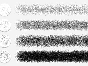 Stipple Shading Photoshop Brushes 2
