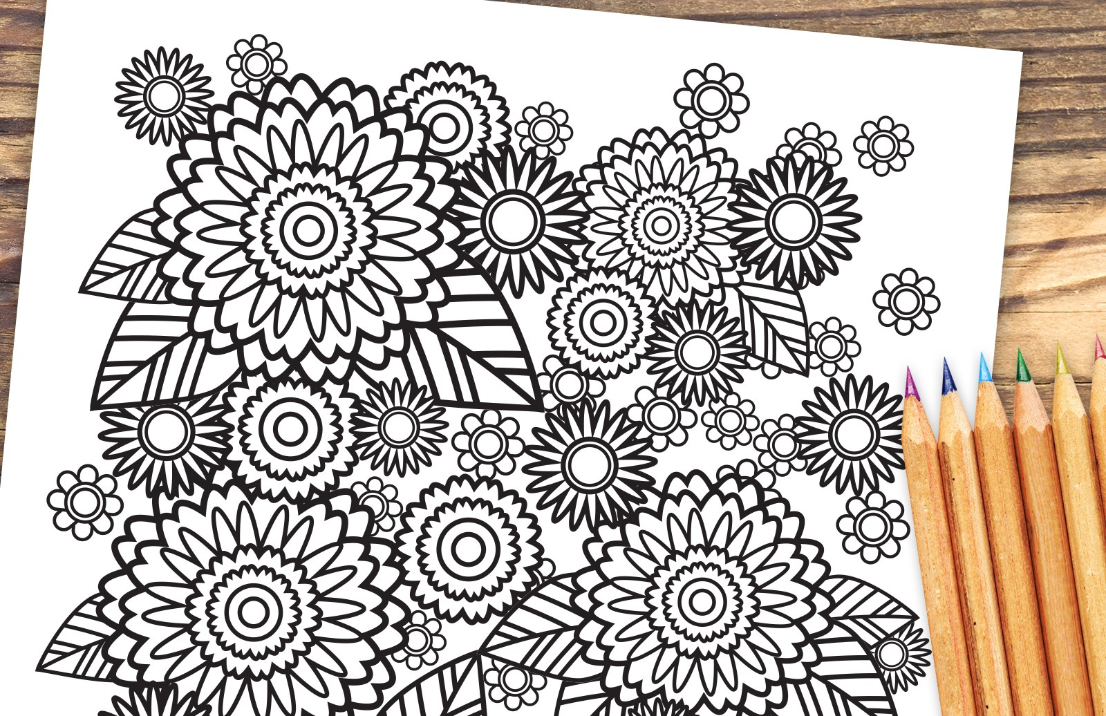 Stress relief coloring pages - Stress Relief Coloring Pages Preview 1
