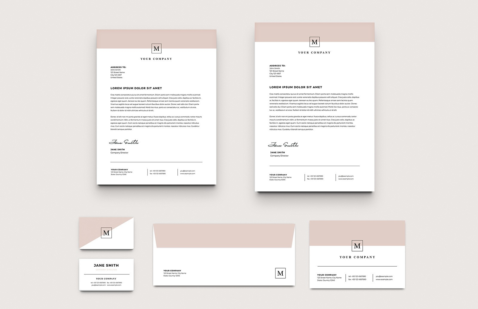 Stylish Business Stationery Layouts Preview 1