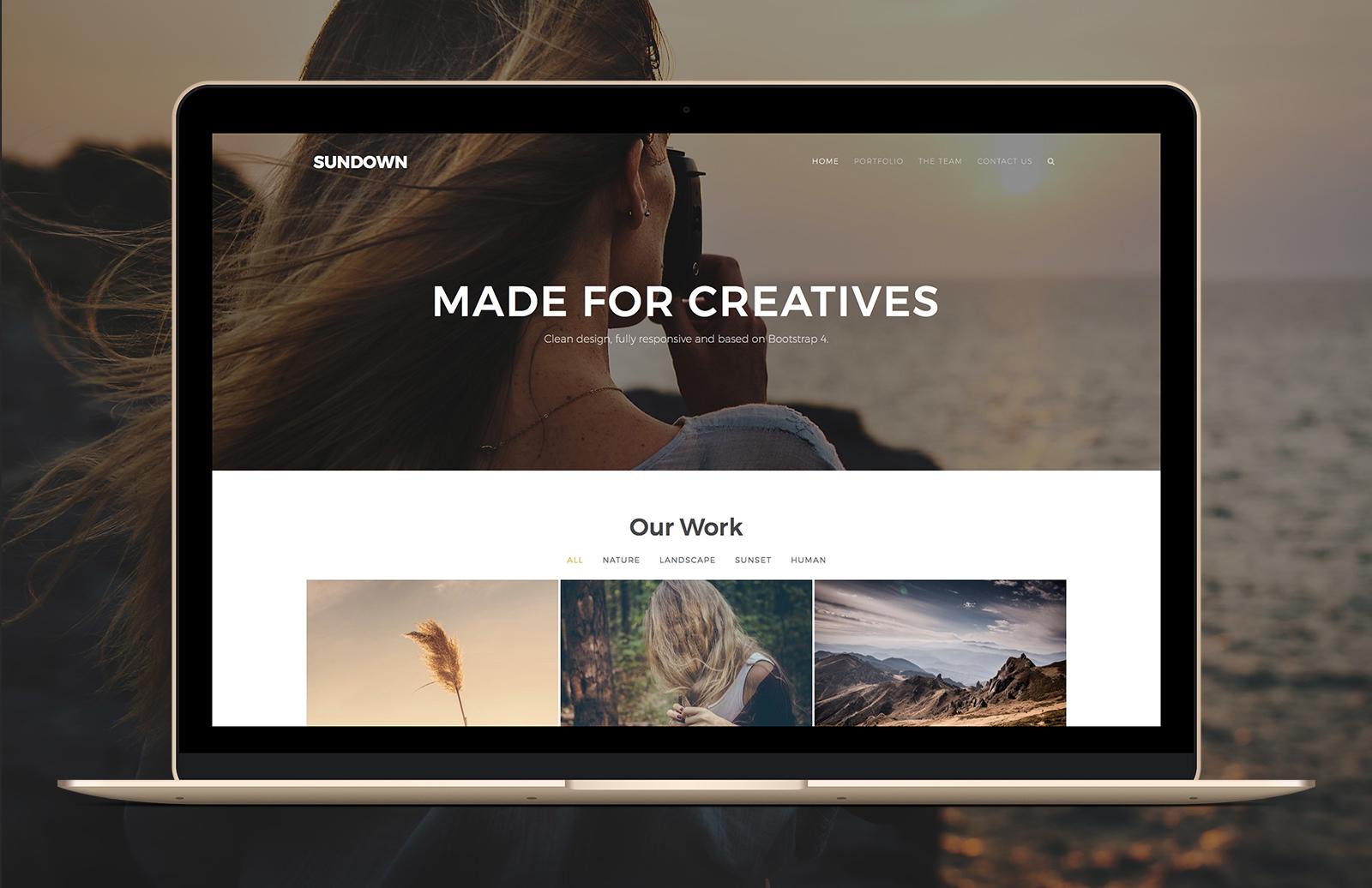 Sundown - Bootstrap Portfolio Template