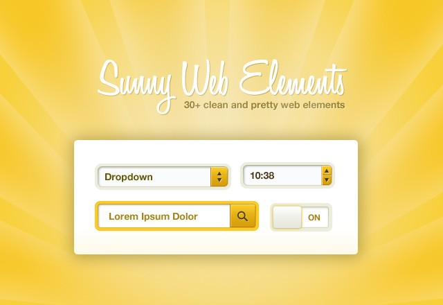 Sunny Web Elements