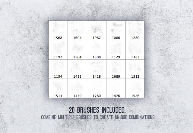 Subtle  Grunge  Brushes  Vol 1  Preview2
